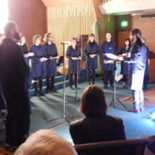Jesse Mejía and CHOIR performing Semaphore (photo by Matthew Andrews) srcset=